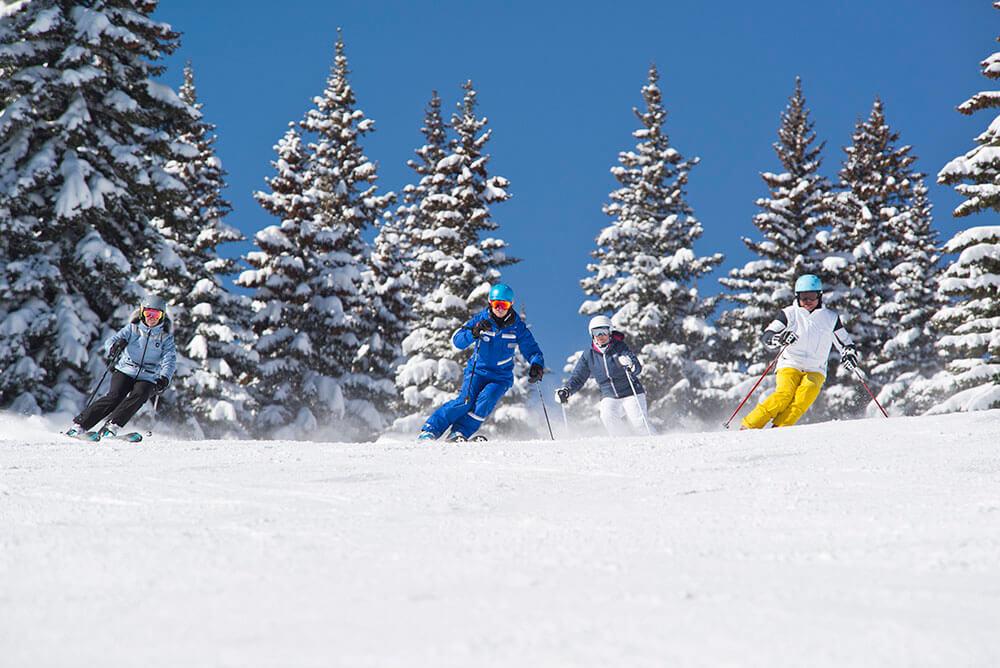 Esqui con guias locales