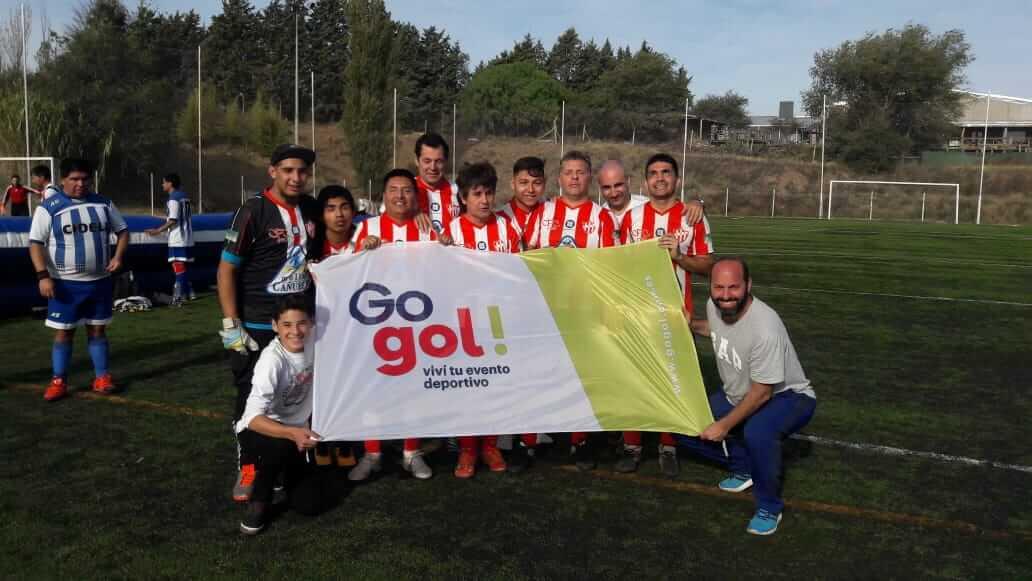 Equipo de Futbol 5 para ciegos de la Fundacion Paraportes.